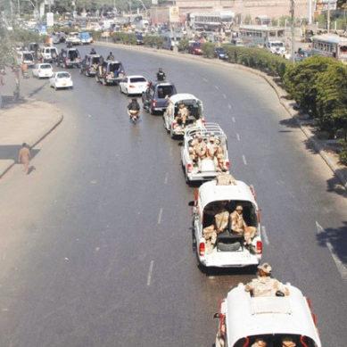 Karachi: Rangers Flag March