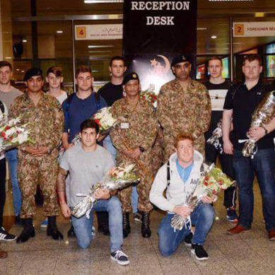 Australian Army Cricket Team Arrives in Pakistan