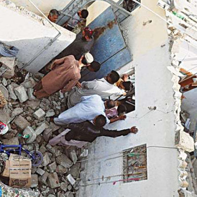 Exclusive Footage: Roof Collapses In Karachi