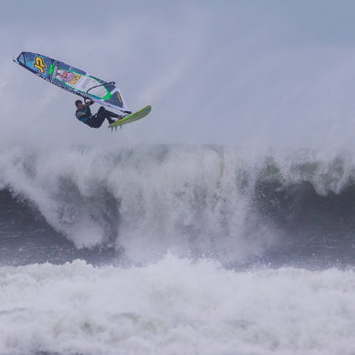 Windsurfing in Extreme Hurricane