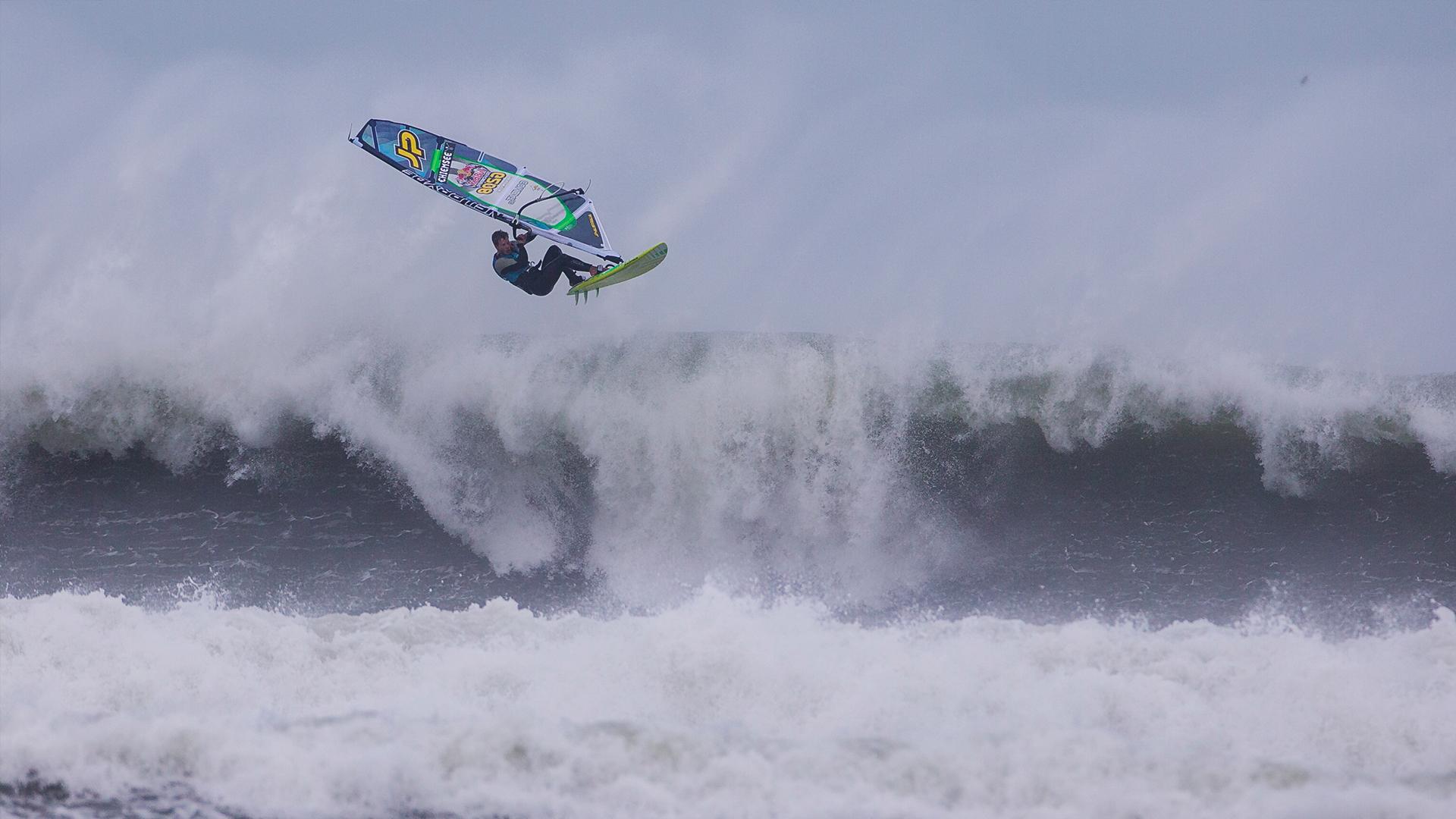 Windsurfing in Extreme Hurricane