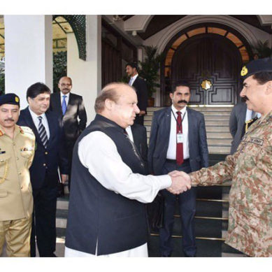 Gen Raheel Sharif Bids PM Nawaz Farewell During Visit