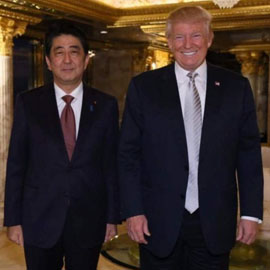 Trump Meets Japanese Prime Minister