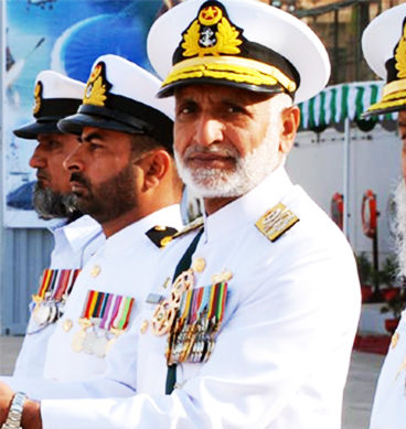 Naval Chief Admiral Zakaullah Addresses A Ceremony