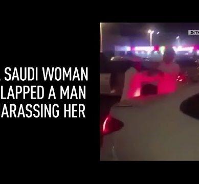 A Saudi Woman Slapps Harasser