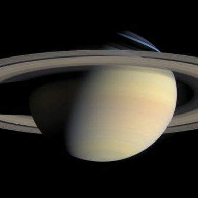 Saturn's North Pole Change Colour
