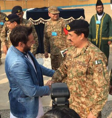 Army Chief Gifts Golden Pistol To Shahid Afridi