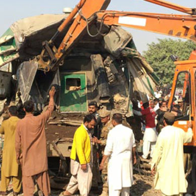 Karachi: Train Collision Near Landhi Station