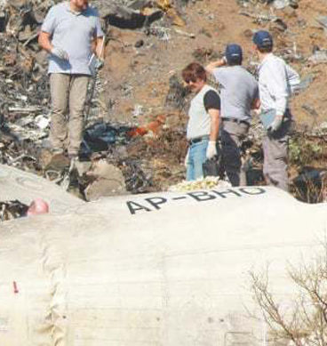 Foreign Experts Visit PK-661 Crash Site In Havelian