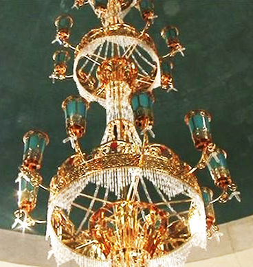 Gold Chandelier Gift By China For Mazar-e-Quaid