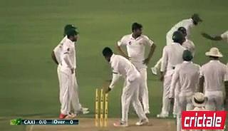 M Amir Takes Three Wickets Cricket Australia XI