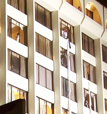 Fire Erupts At Karachi's Regent Plaza Hotel