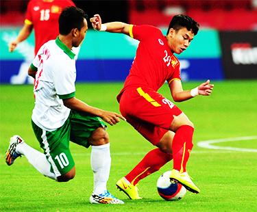 Match Tie Between Vietnam And Indonesia