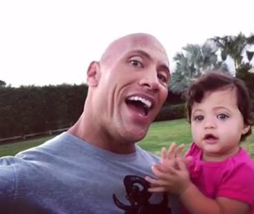 Dwayne Sings to Daughter Jasmine On Her 1st Birthday