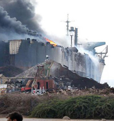 Fire Erupts In Ship Parked At Gadani Ship-Breaking Yard