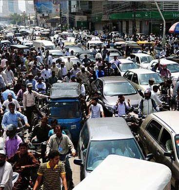 Traffic Chaos In Karachi