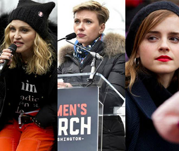 Celebrities Women March Against Trump