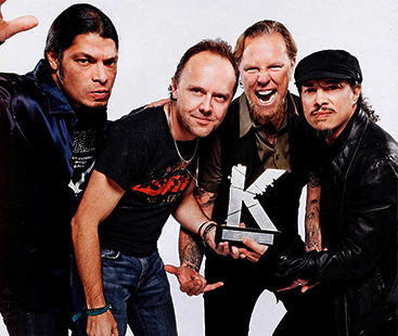 Metallica: Most Streamed Heavy Metal Band