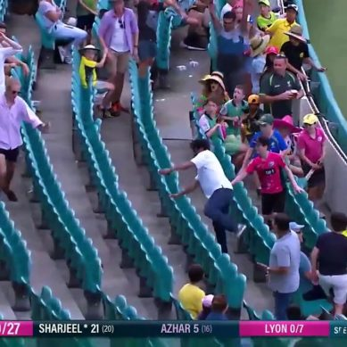 Sharjeel Khan's Aggressive Inning Against Australia