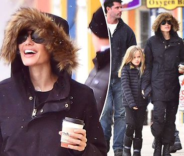 Jolie & Kids Spent New Year Holiday In Colorado