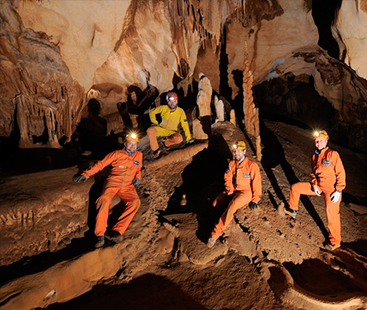 Astronauts Prepare For Space By Caving