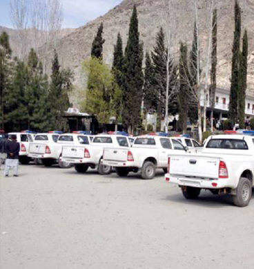Security Vans For CPEC Security Route Grounded