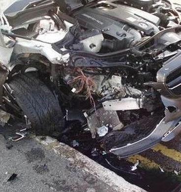 Collision Between Car And Van: Jhelum