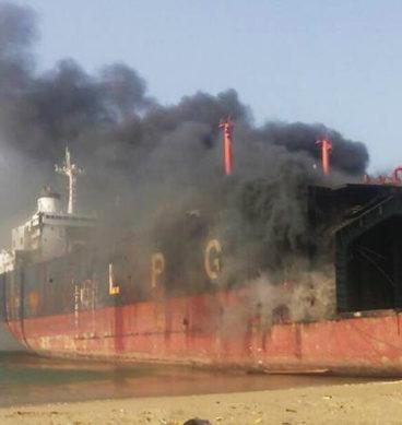 Fire Breaks Out At Gadani Shipbreaking Yard
