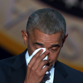 Obama Tears Up Talking About Michelle
