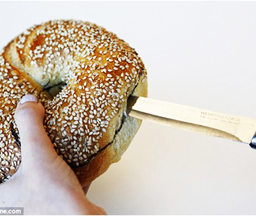 The Best Way To Cut A Bagel