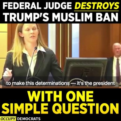 Judge Thrashes Trump's Muslim Ban With One Simple Question
