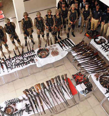 Huge Cache Of Weapons Recovered From Sialkot