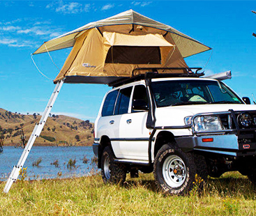 Tent Unfolds On The Top Of Your Car