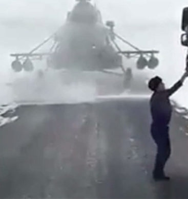 Military Helicopter Pilot Lands Craft To Get Directions
