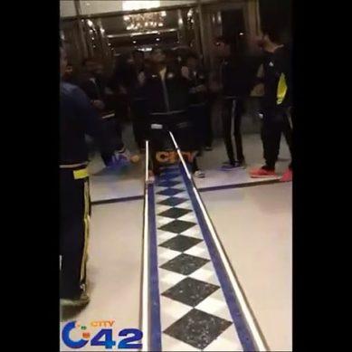 Players Of Peshawar Zalmi Dance At Hotel's Lobby