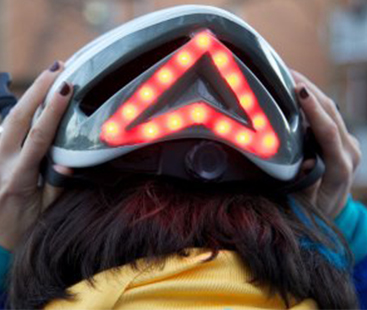 This Light-Up Bike Helmet Has Built-In Turn Signals
