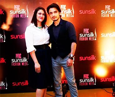 Ali Zafar With His Wife At PFDC Sunsilk Fashion Week