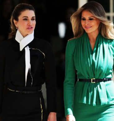 First-Lady-Melania-Meets-Queen-Rania-NEW