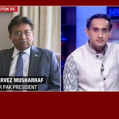 Musharraf Grills Indian Anchor