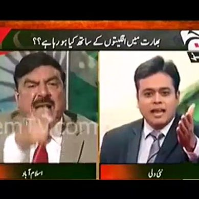 Blast From The Past: Sheikh Rasheed Bashes Indian Anchor And Politician