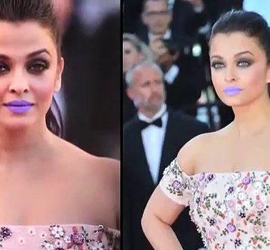 Aishwarya Rai's Lipstick Blunder At Cannes 2017