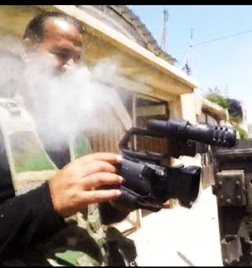 Cameraman Narrowly Survives Sniper Shot