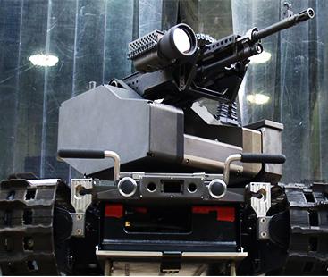 Machine Gun-Wielding Robot