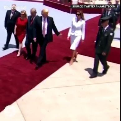 Awkward Moment! Melania Slaps Away Donald Trump's Hand