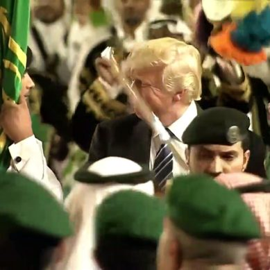 Trump Takes Traditional Saudi Sword Dance