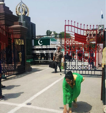 Indian National Uzma Returns Home Through Wagah Border