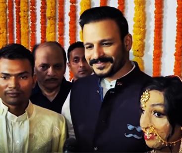 Vivek Oberoi Attends Acid Attack Survivor Lalita Bansis Wedding