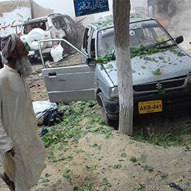 Deputy Senate Chairman Haideri's Convoy Hit By Explosion In Mastung, 10 Killed