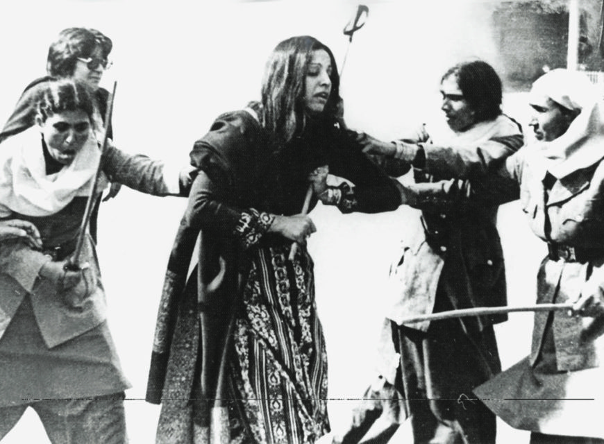 BUSHRA Aitzaz, a human rights activist, was one of the women who were arrested during a protest organised by the Women's Action Forum in Lahore in February 1983. The protestors were subjected to brutal violence at the hands of policemen armed with batons and teargas.| Photo: Aitzaz Ahsan Archives.