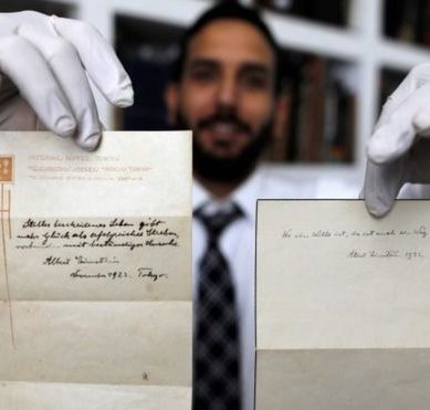 The theory of happiness by Albert Einstein, sold for US $ 1,500,000